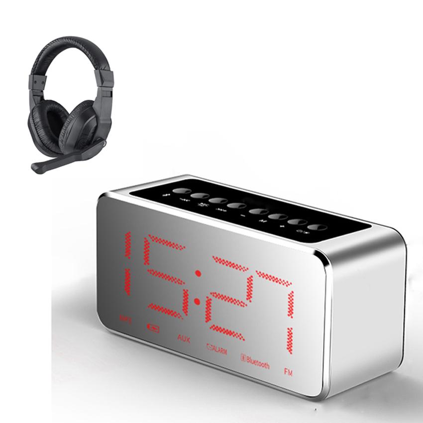 Combo Loa Bluetooth Siêu Trầm S11 Kiêm Đồng Hồ Báo Thức Và Gương Soi Tiện Lợi + Tặng Tai Nghe Chụp Tai Kèm Mic Dành Cho Game Thủ CT-770 ( Màu Ngẫu Nhiên )
