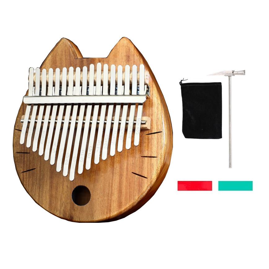 Đàn kalimba 17 phím gỗ Mahogany Mèo gỗ Nhật Bản IME-93 Tặng túi nhung bảo vệ đàn