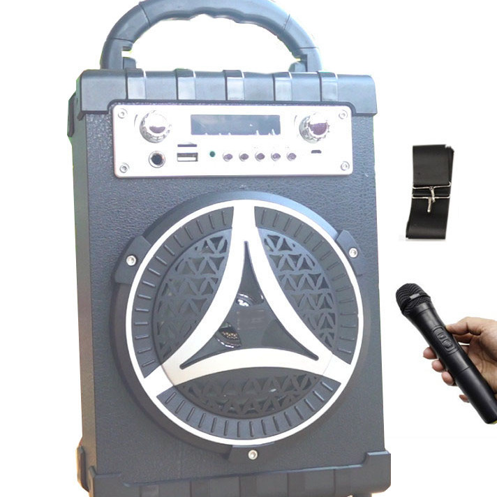 Loa Bluetooth xách tay  S16 kèm micro hát karaoke không dây, trợ giảng, nghe đài Fm radio