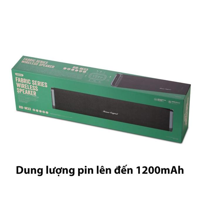 Loa Bluetooth Di Động Remax RB - M33 - Hàng Chính Hãng