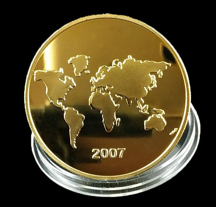 Bộ Xu 7 Kỳ Quan Thế Giới 2007 Lưu Niệm PASA COLLECTION Màu Vàng Đẹp Mắt