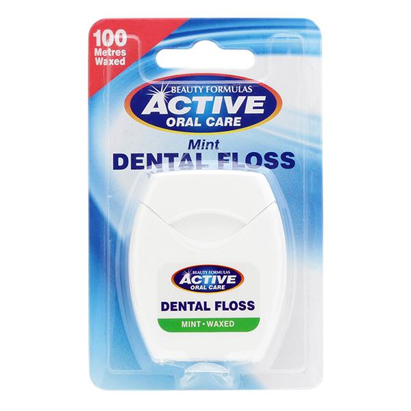 Chỉ Xỉa Răng Beauty Formulas Dental Floss Mint Wax 100m