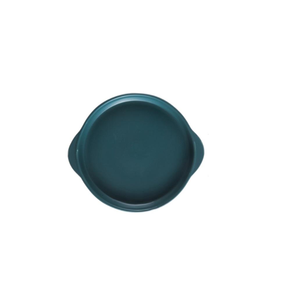 Chảo nướng bằng sứ Pastel dùng cho lò nướng, lò vi sóng ( 21x21x2.6cm ) trang trí decor