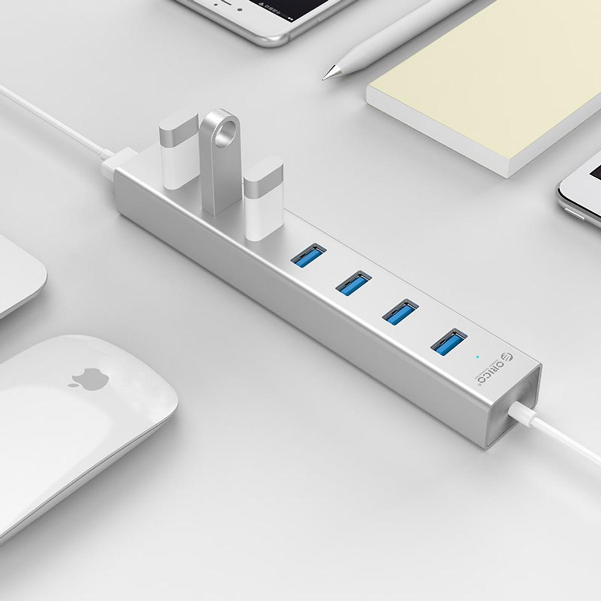 Bộ chia USB HUB 7 cổng USB 3.0 Type C Orico ASH7-U3 - Hàng Chính Hãng