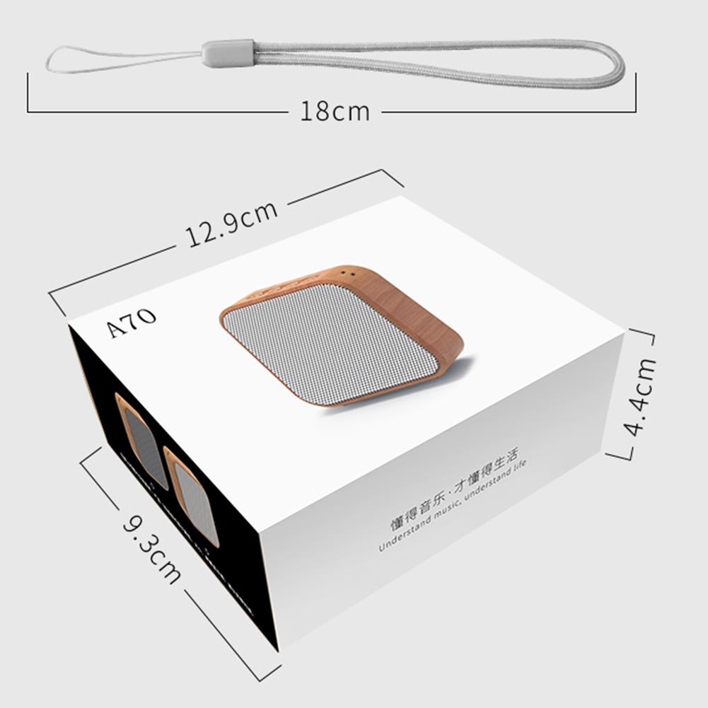 Loa A70 Bluetooth 4.2, Loa Bluetooth di động HD Âm thanh gia tăng Bass, Hỗ trợ du lịch Thẻ AUX TF-CHÍNH HÃNG