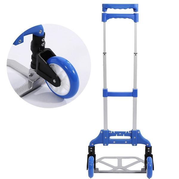Xe kéo đẩy hàng khung thép carbon siêu bền tải trọng 80kg