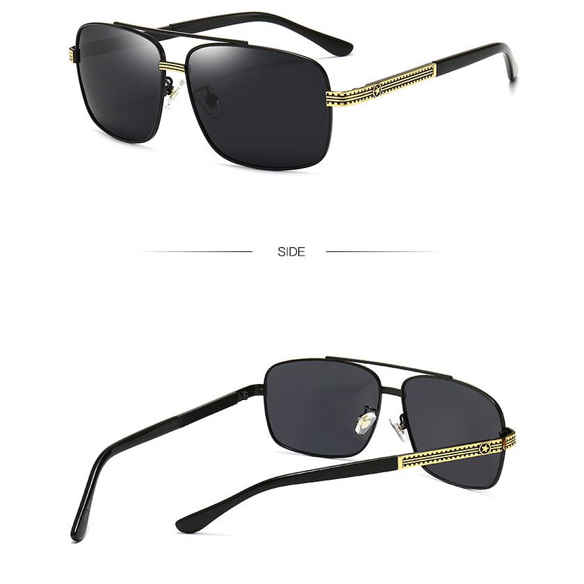Kính mát nam Kasawi M15 kính mắt vuông kính thời trang nam, kính râm nam, kính chống tia cực tím, kính lái, lái xe, gọng hợp kim thép