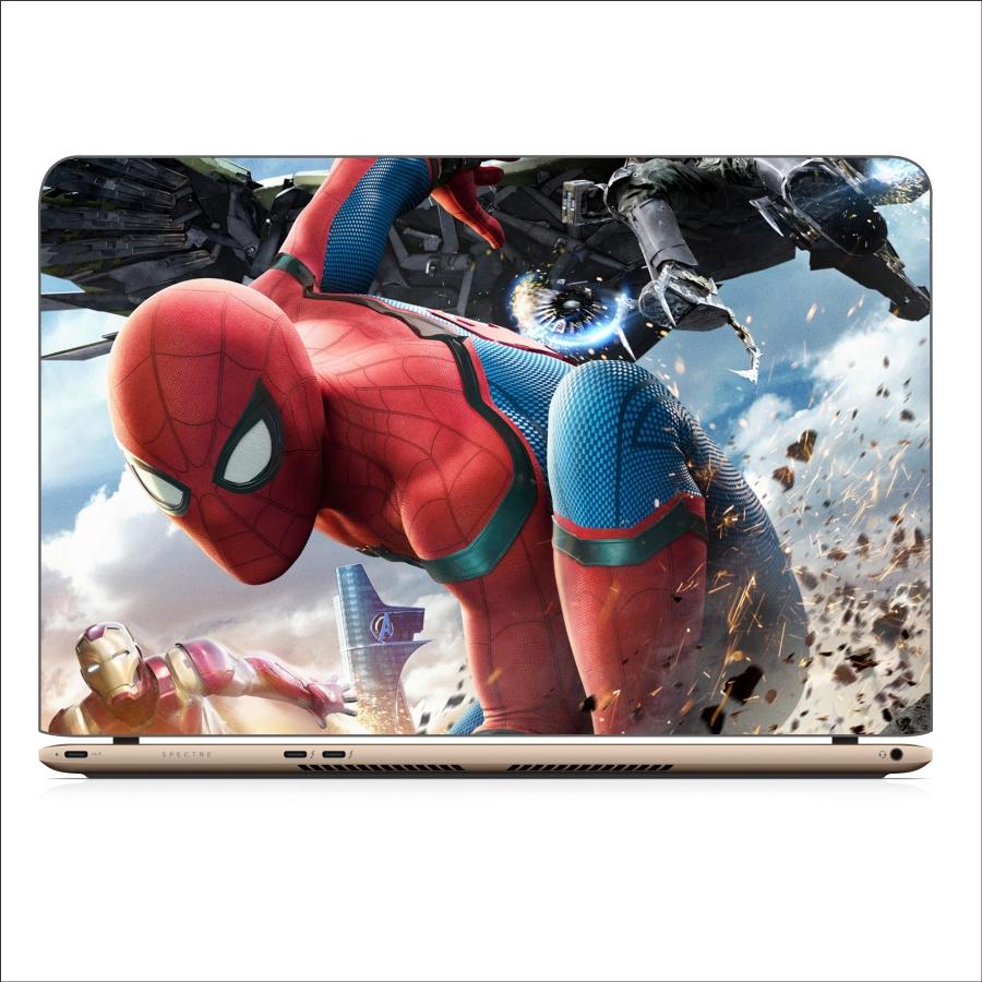 Miếng Dán Skin In Decal Dành Cho Laptop - Spider Man 7 - 14 inch - Mặt trước  bàn phím