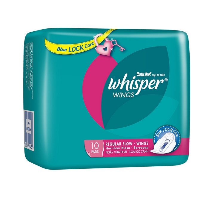 Combo 4 Băng vệ sinh Whisper Ngày vừa 10 Miếng