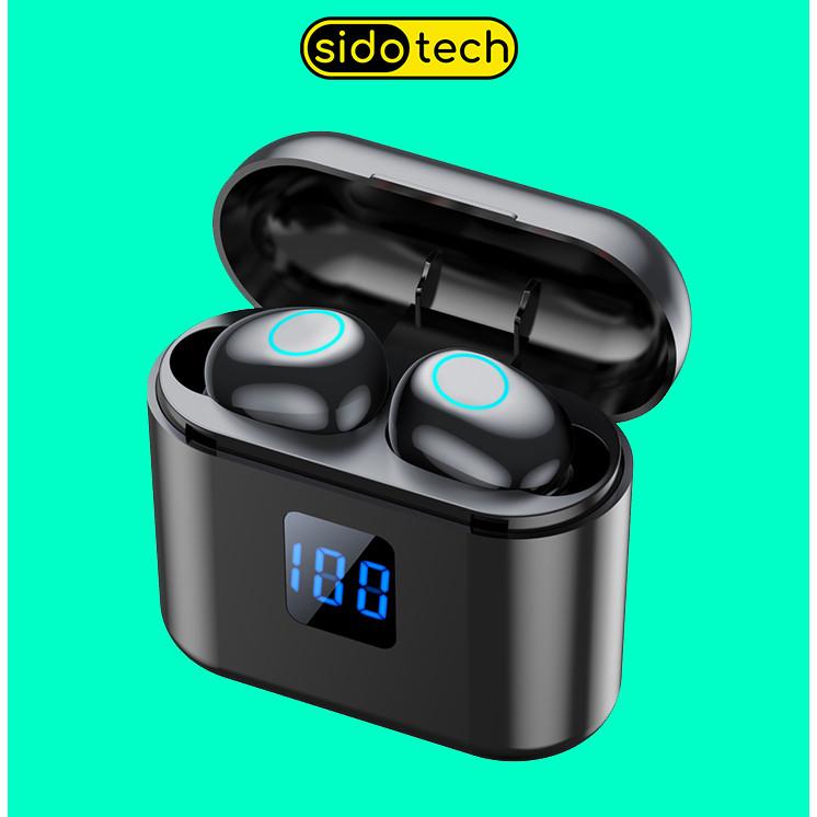 Tai Nghe Bluetooth Không Dây SIDOTECH X11B Airpod Mini TWS True Wireless Có Mic Âm Thanh CV8 Bùng Nổ Siêu Bass, Màn Hình LED Hiển Thị Pin, Cảm Ứng Vân Tay Cực Nhạy, Kích Thước Mini Phù Hợp IOS Android - Hàng Chính Hãng