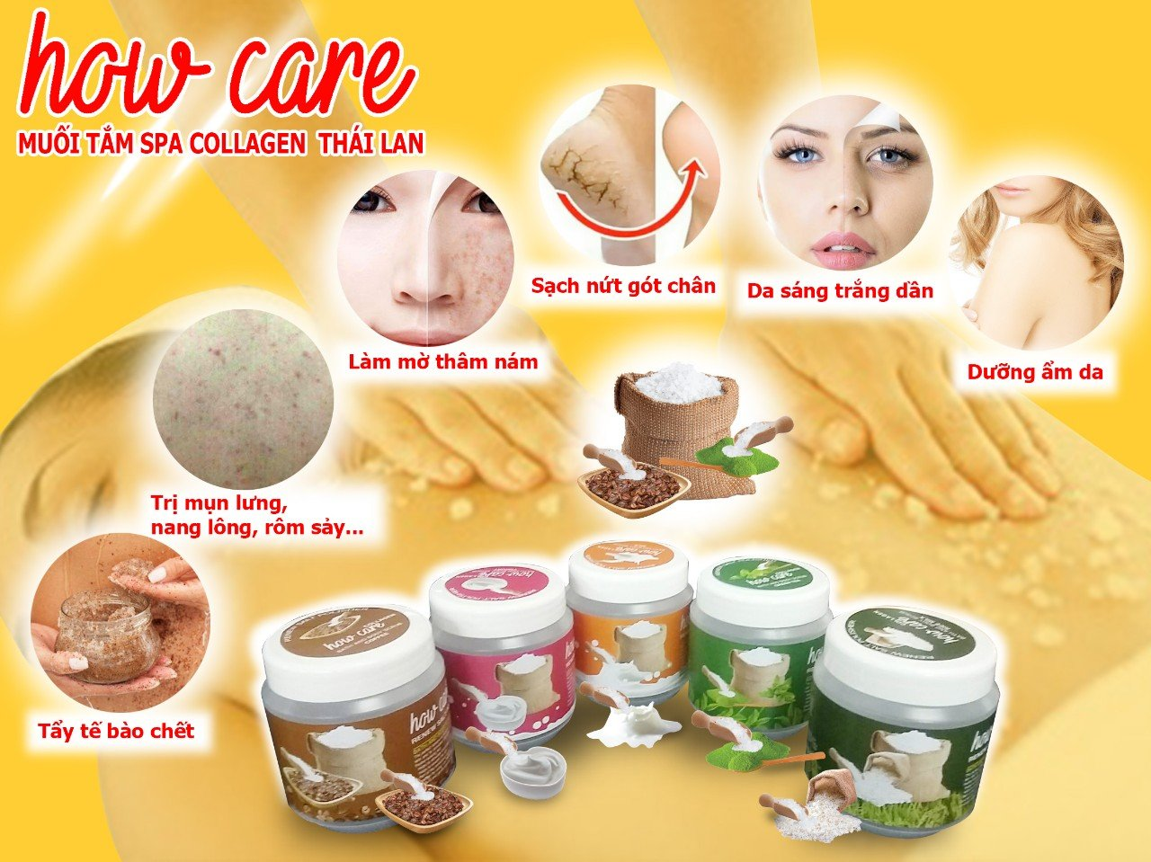 Muối Tắm How Care Spa Collagen Thái Lan_ Coffee