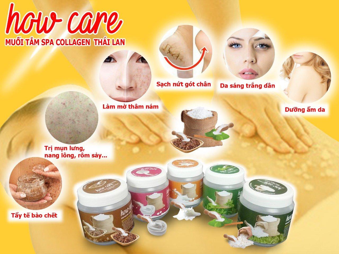 Muối Tắm How Care Spa Collagen Thái Lan_ Sữa Chua