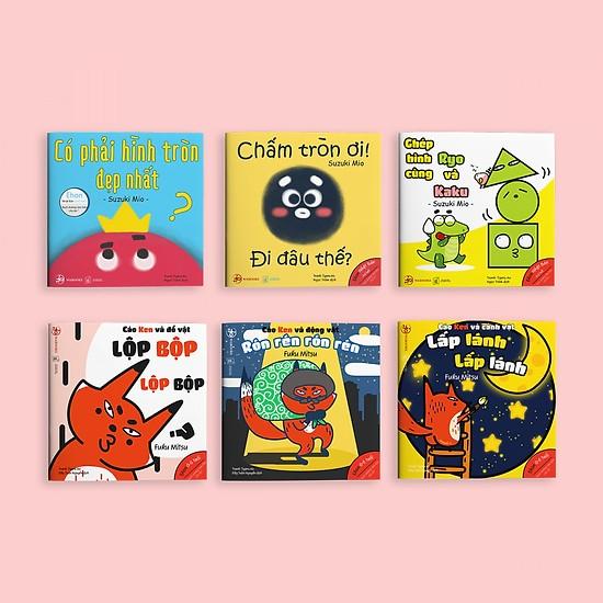 Combo 2 bộ Ehon Hình khối và Âm thanh - Cho bé 0-6 tuổi thông minh và sáng tạo (Tặng cuốn Những Câu Chuyện Kinh Điển)