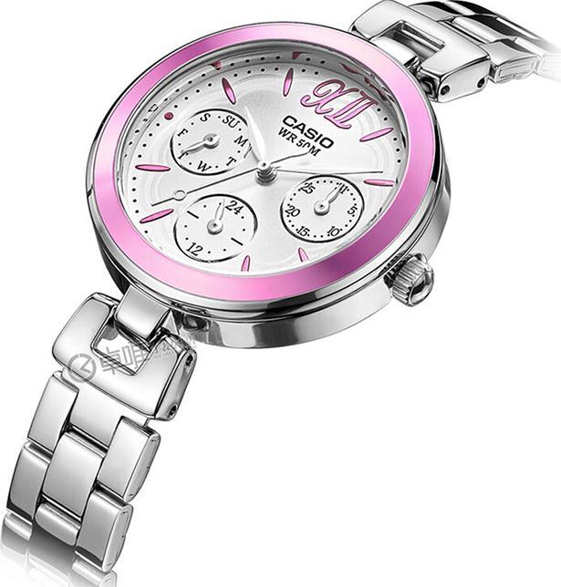 Đồng hồ Nữ Casio 6 kim dây Kim loại kính Cứng LTP-E407D-4AVDF