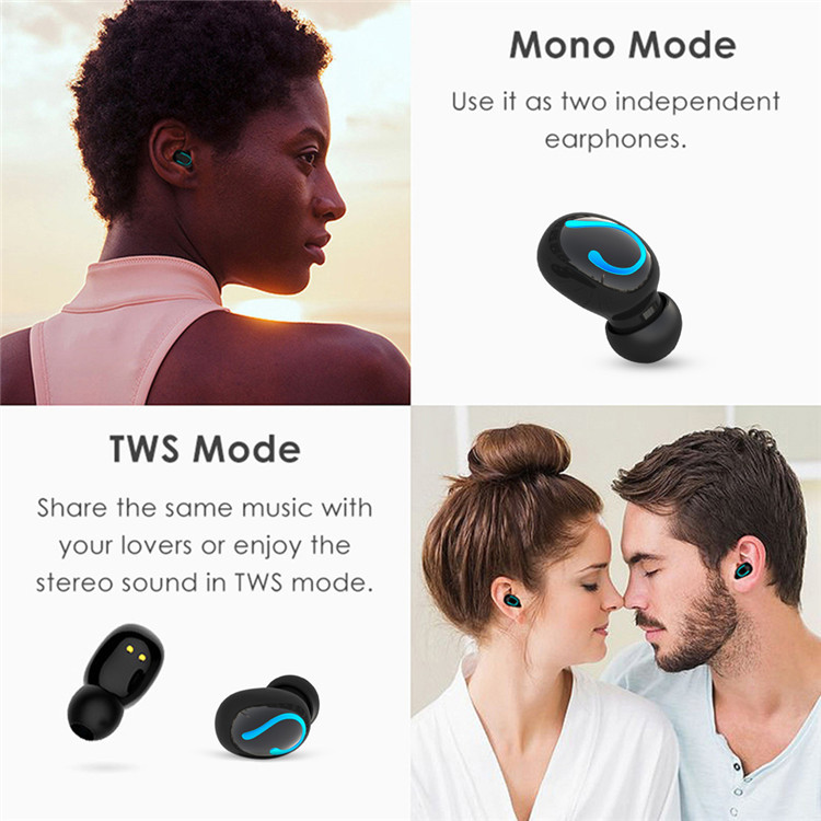 Tai nghe Bluetooth không dây thể thao Tcare Led hiển thị Pin - Hàng chính hãng