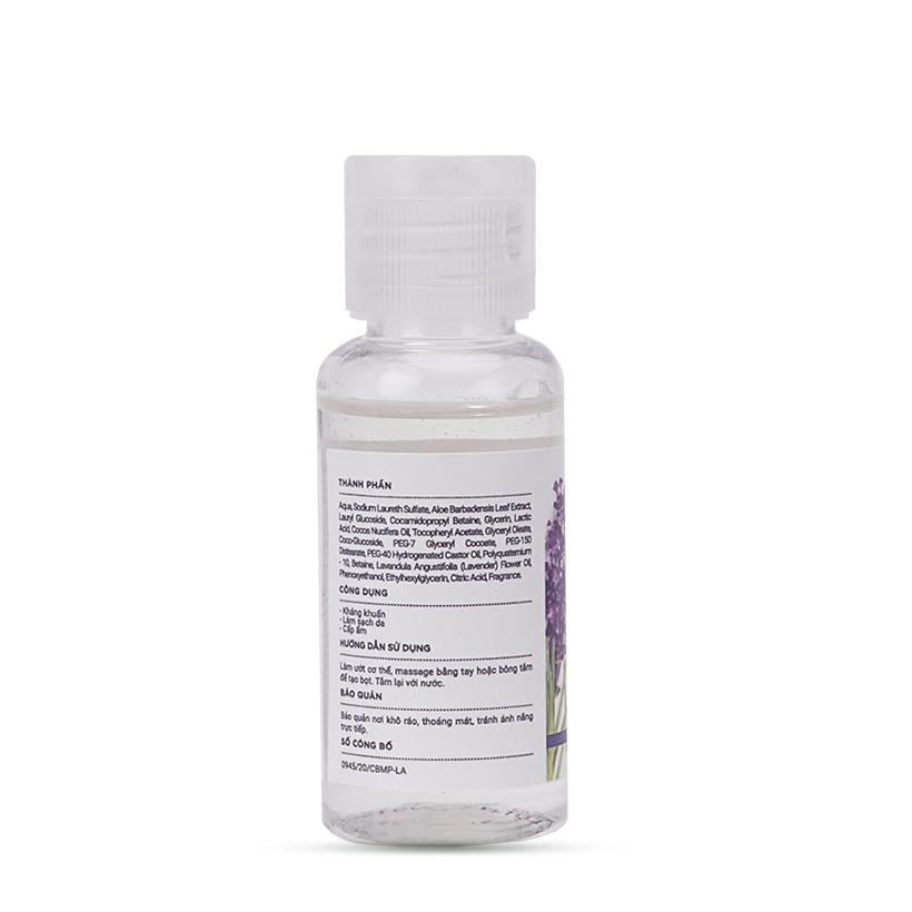 Sữa tắm Kháng Khuẩn Oải Hương Sạch Sâu và Cấp Ẩm Cho Da MILAGANICS 30ml (Chai)