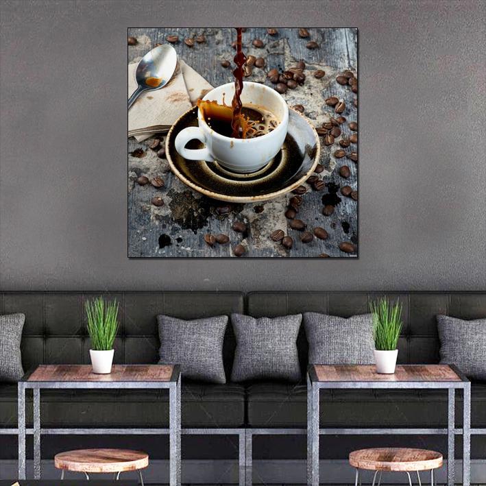 Decal dán tường quán cà phê độc đáo GDT-141