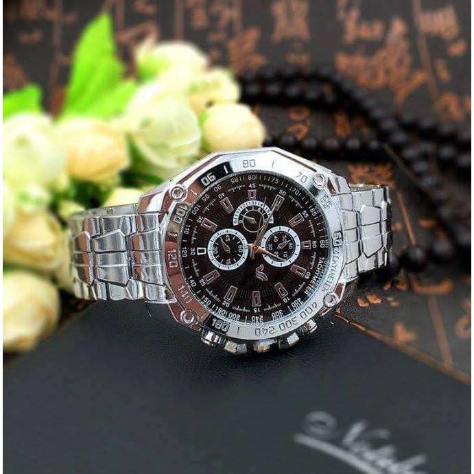 Đồng hồ thời trang nam Ord1,dây kim loại khóa bấm, chạy 3 kim.
