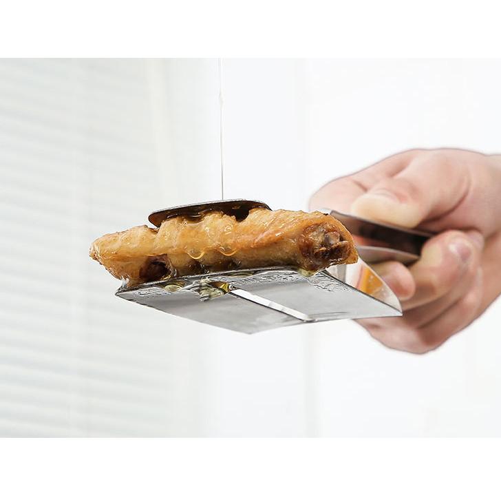 Dụng cụ làm bếp đa năng, kẹp gắp đồ nóng như bít tết, cá rán, thịt nướngchuyên dụng tiện ích