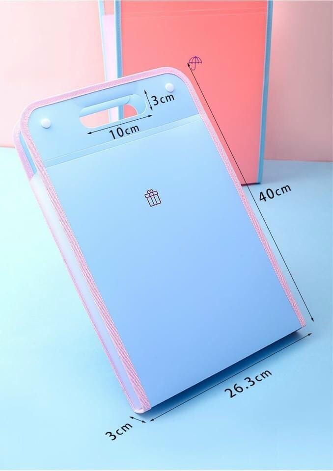 Túi đựng tài liệu nhiều ngăn - giao màu ngẫu nhiên