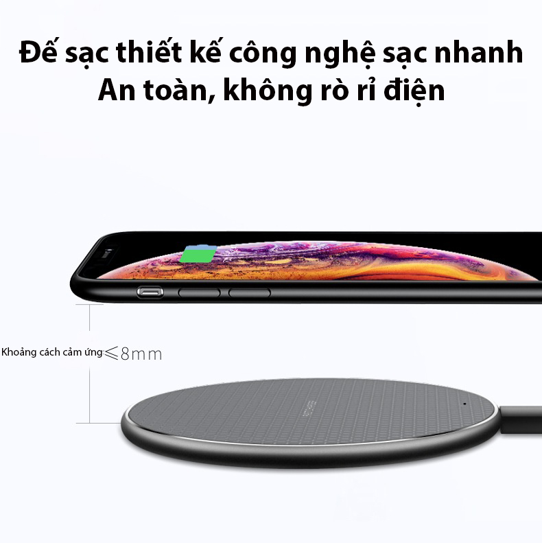 Đế Sạc Nhanh Không Dây Cao Cấp Cho Điện Thoại Samsung, Iphone KD21
