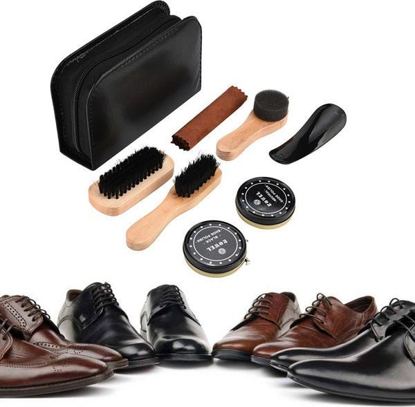 Bộ Dụng Cụ Đánh Giày 7 Món Kèm Si Đánh Bóng Tiện Lợi