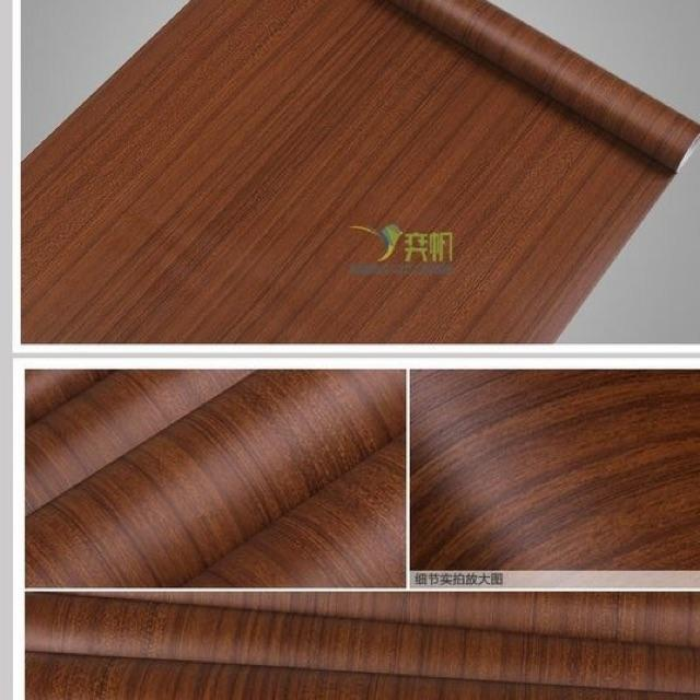 Decal cuộn gỗ nâu