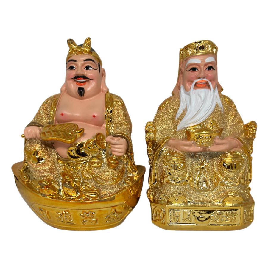 Tượng Thổ Địa Và Thần Tài Kim Sa PT0057 (7inch)