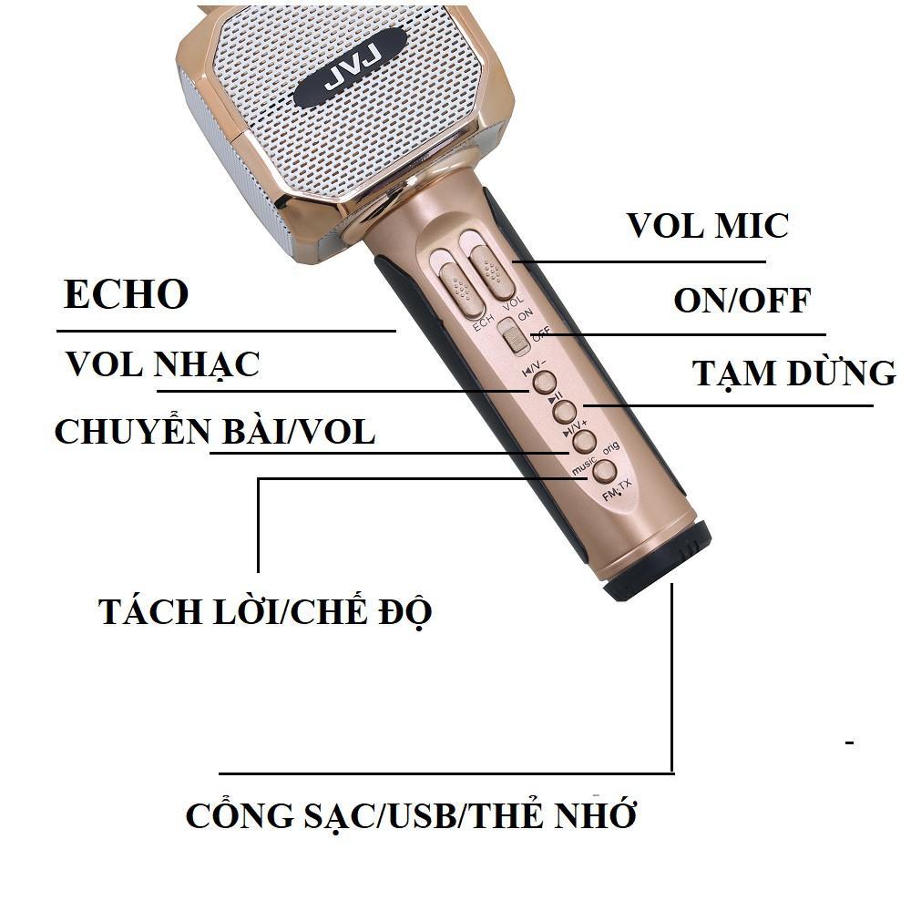 Micro không dây kèm loa Bluetooth Karaoke JVJ SD - 10  -Hàng chính hãng