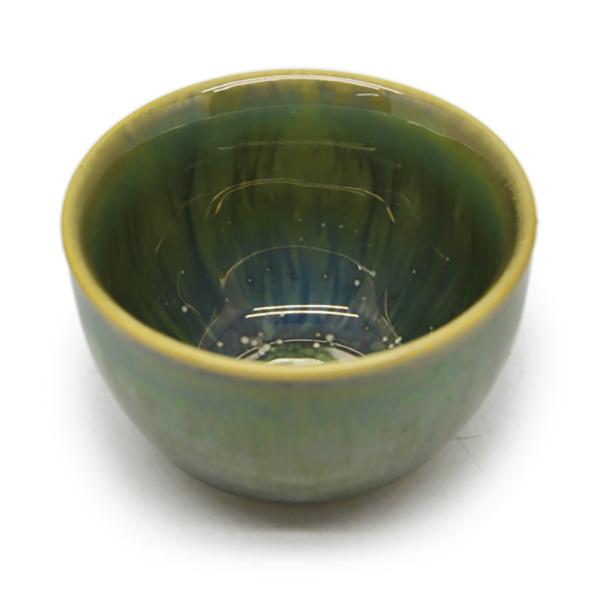 06 Cốc trà  không chân Đông Gia  - xanh  crystal 14