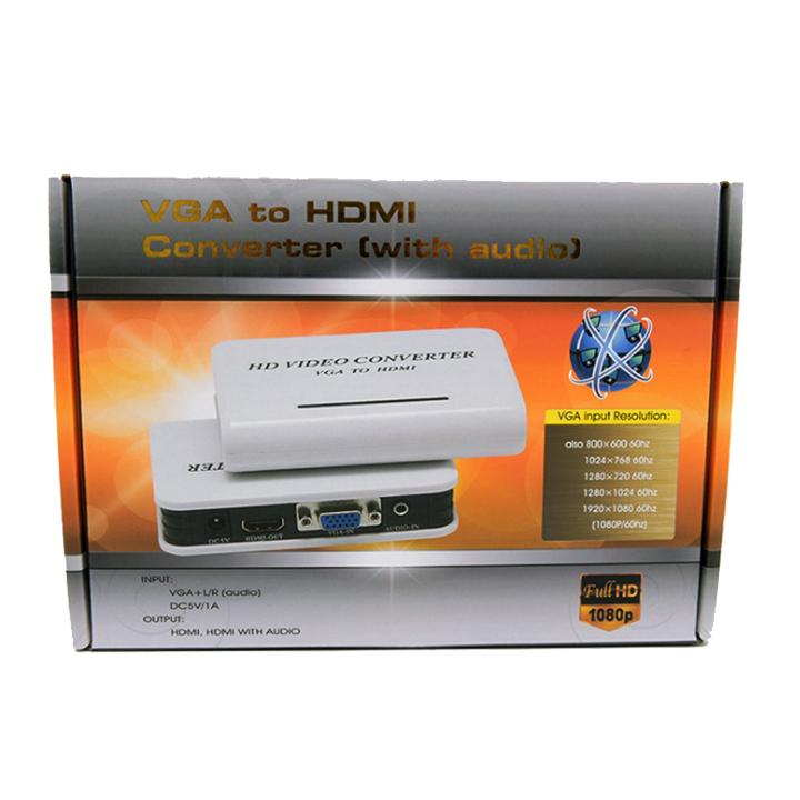 Bộ chuyển đổi tín hiệu VGA Sang HDMI YJS-4500HD Full HD 1080P có Cổng Audio