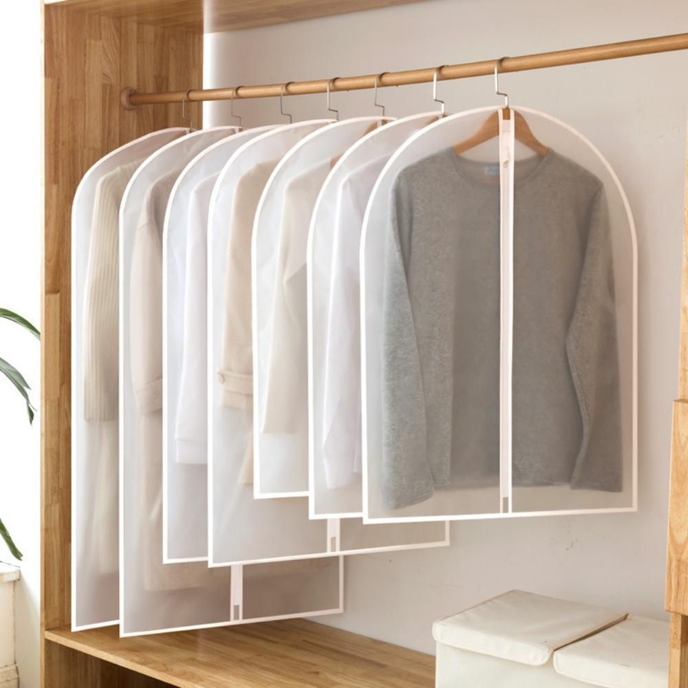 Túi PEVA bọc kín treo quần áo chống bụi bẩn, chống thấm có khoá kéo ( không kèm móc treo)- Hàng chính hãng