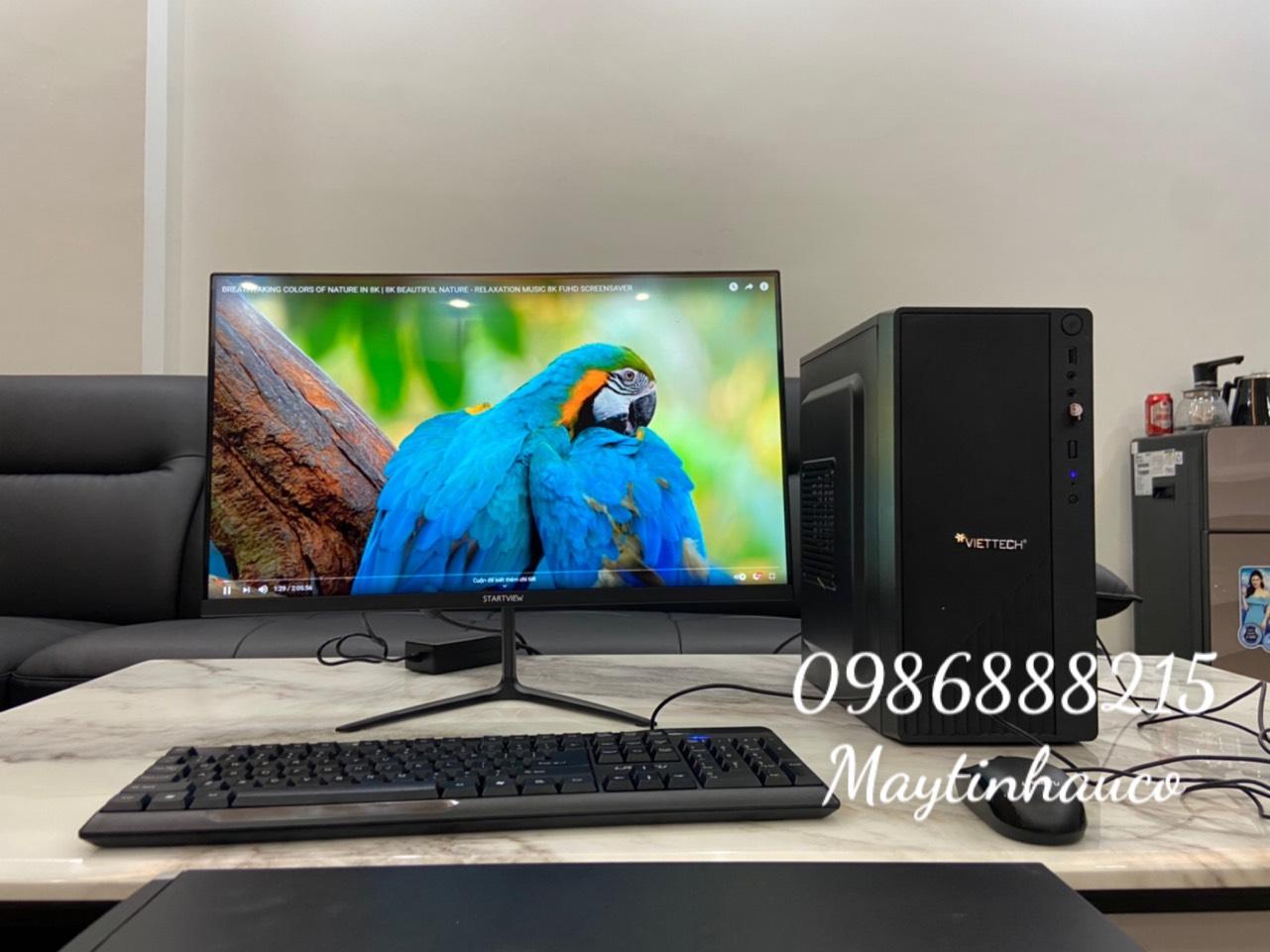 Bộ Máy Tính Để Bàn Modell Viteck  ( Core i5 - 3570/ Ram 8gb / SSD 240GB ) Và Màn Hình Full Viền 24 inch - Tặng Ngay Bàn Phím Chuột Không Dây - Hàng Chính Hãng