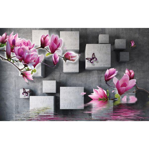Decal Bóc Dán - Tranh Dán Tường Hoa 3D - T3M---5059-copy