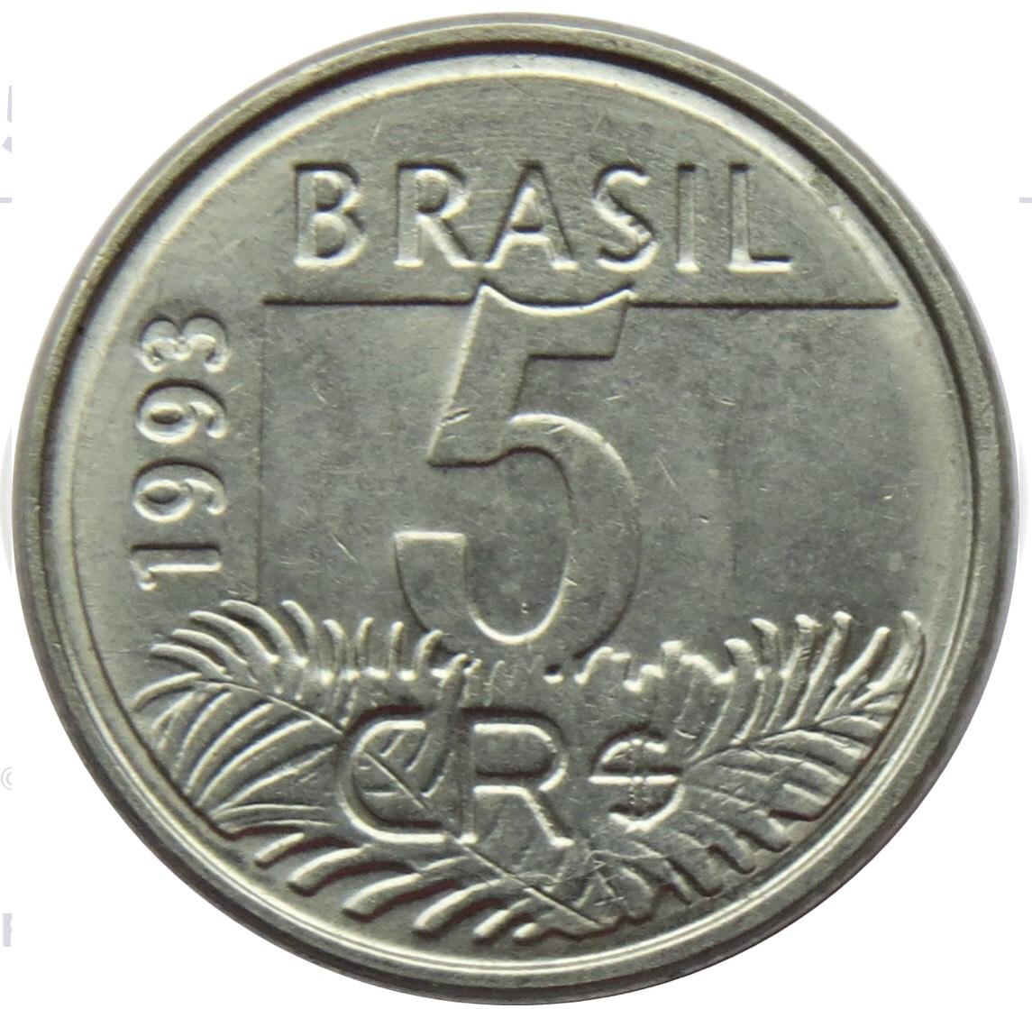 Đồng xu Brazil 5 centavos căp Vẹt đẹp [MỚI CỨNG] sưu tầm 21 mm