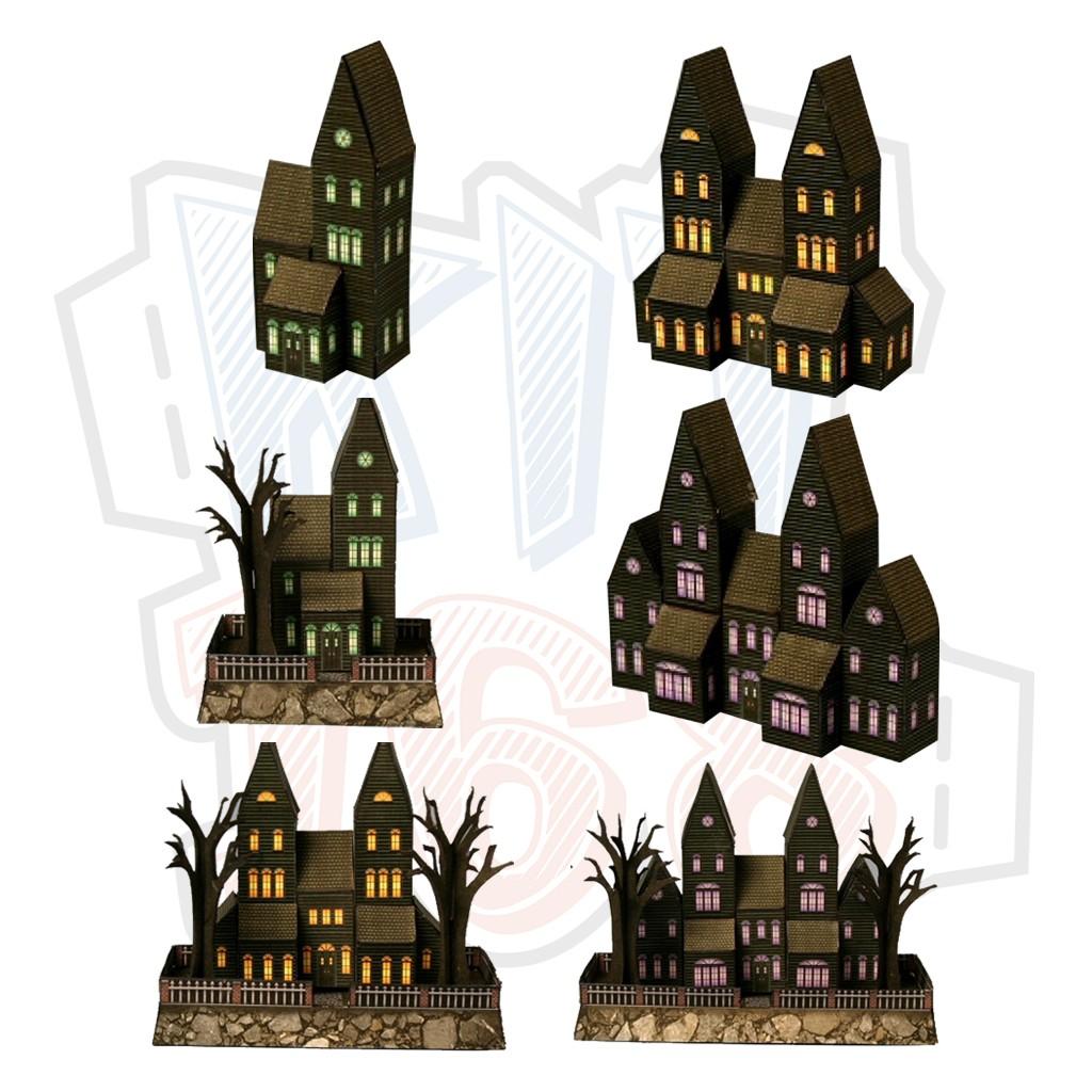 Mô hình giấy Nhà ma Halloween Mini Haunted House
