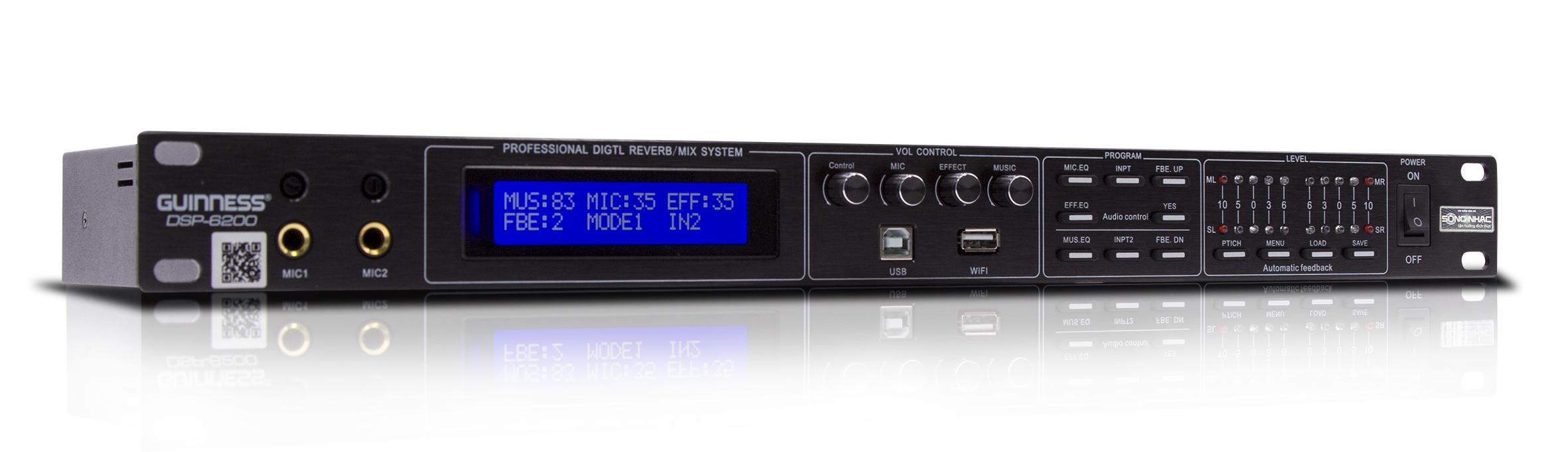 Vang số - Mixer GUINNESS DSP-6200 | Hàng nhập khẩu