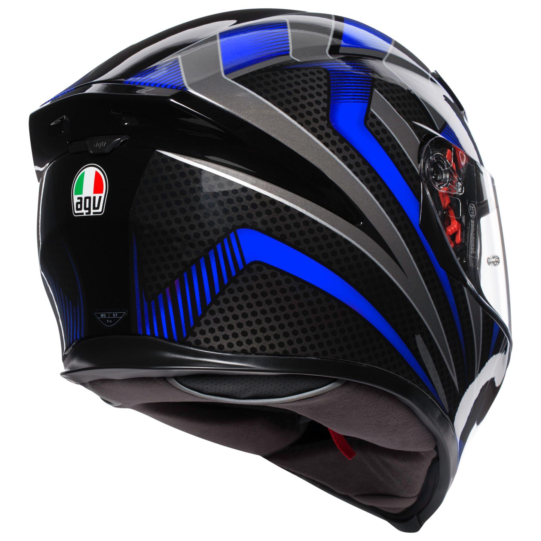 Nón Bảo Hiểm Fullface - AGV K-5 S HURRICANE 2.0 BLACK/BLUE - Hàng Nhập Khẩu Thương Hiệu Ý