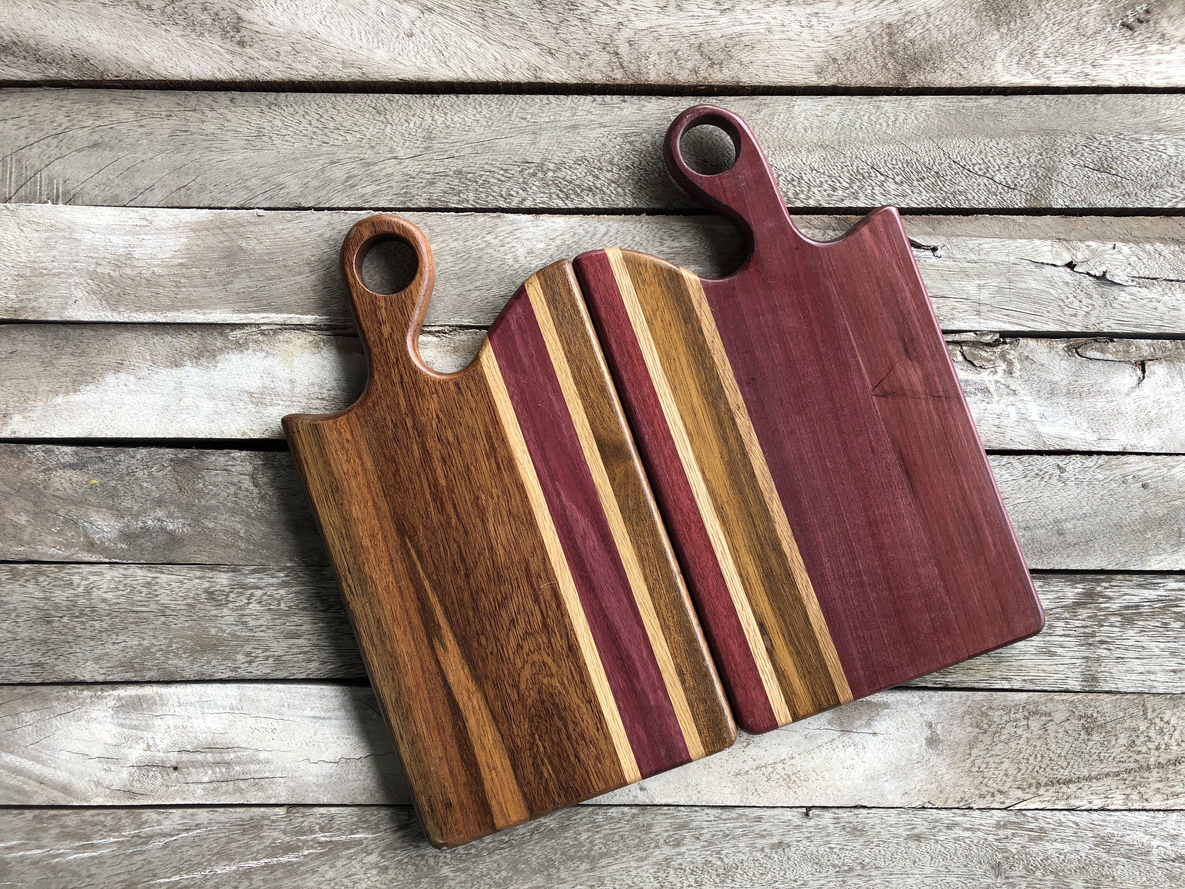 Thớt gỗ xuất khẩu cao cấp ''Miss Sài Gòn'' _ màu Tím  Sản phẩm an toàn sức khỏe