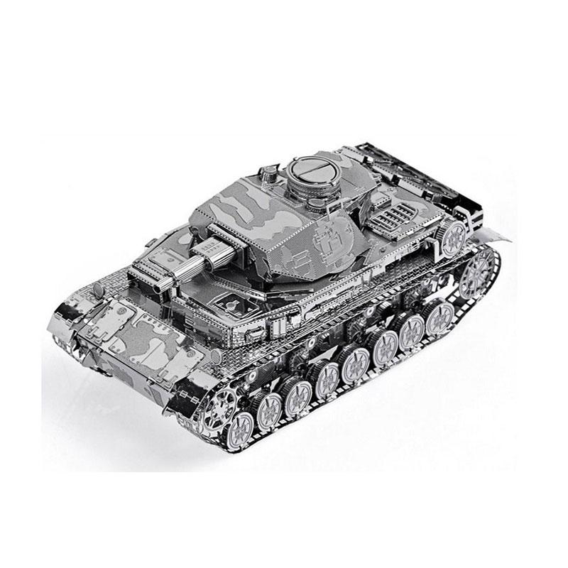 Mô hình thép 3D tự ráp cao cấp xe tank IV tank