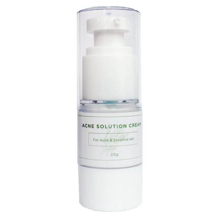 Kem hỗ trợ trị mụn Tràm trà Rau má Acne Solution Cream 20g