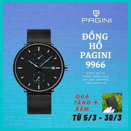 Đồng Hồ Nam PAGINI 9966 Dây Titanium Cao Cấp - Hiển Thị Lịch - Tinh Tế - Thời Thượng -  Đẳng cấp