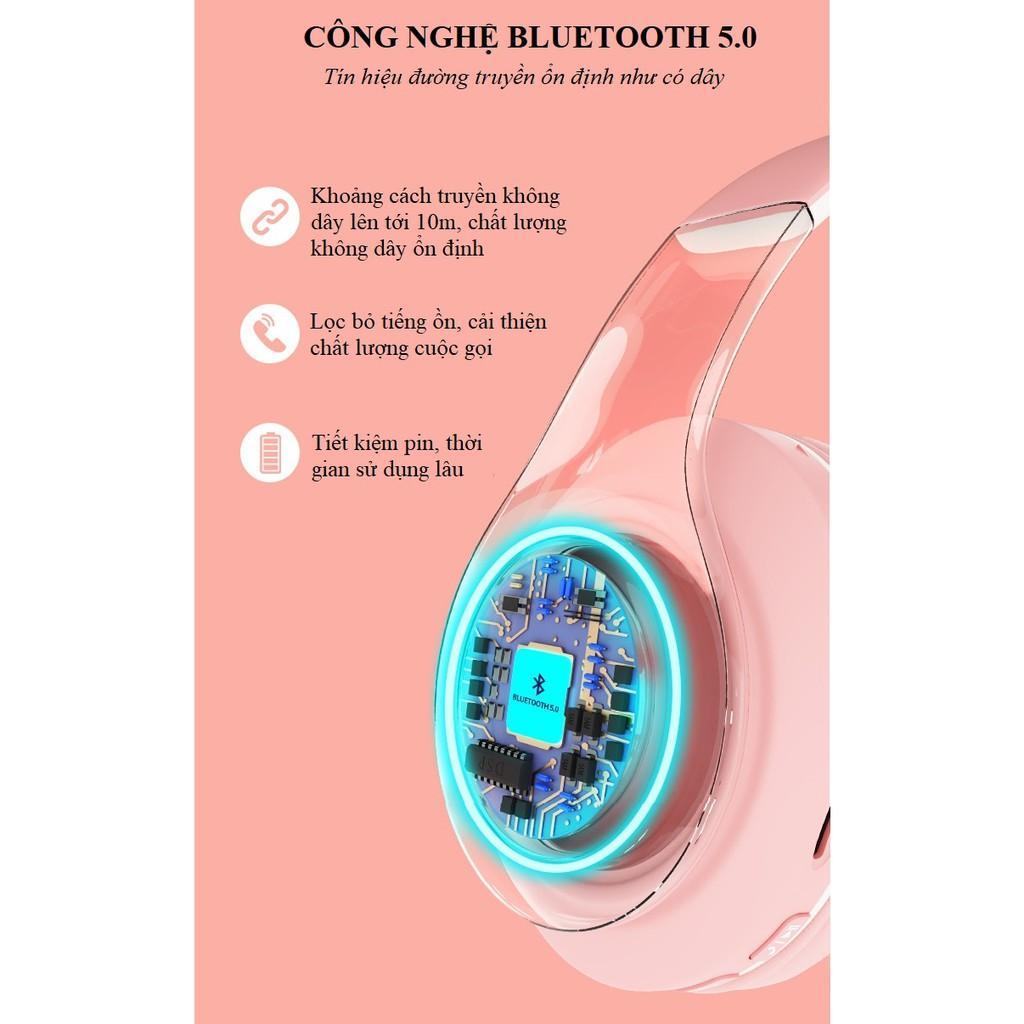 Tai Nghe Chụp Tai ️️ Tai Nghe Bluetooth Âm Thanh Sống Động - Tai Nghe Không Dây Iboom B39 Phong Cách Trẻ Trung