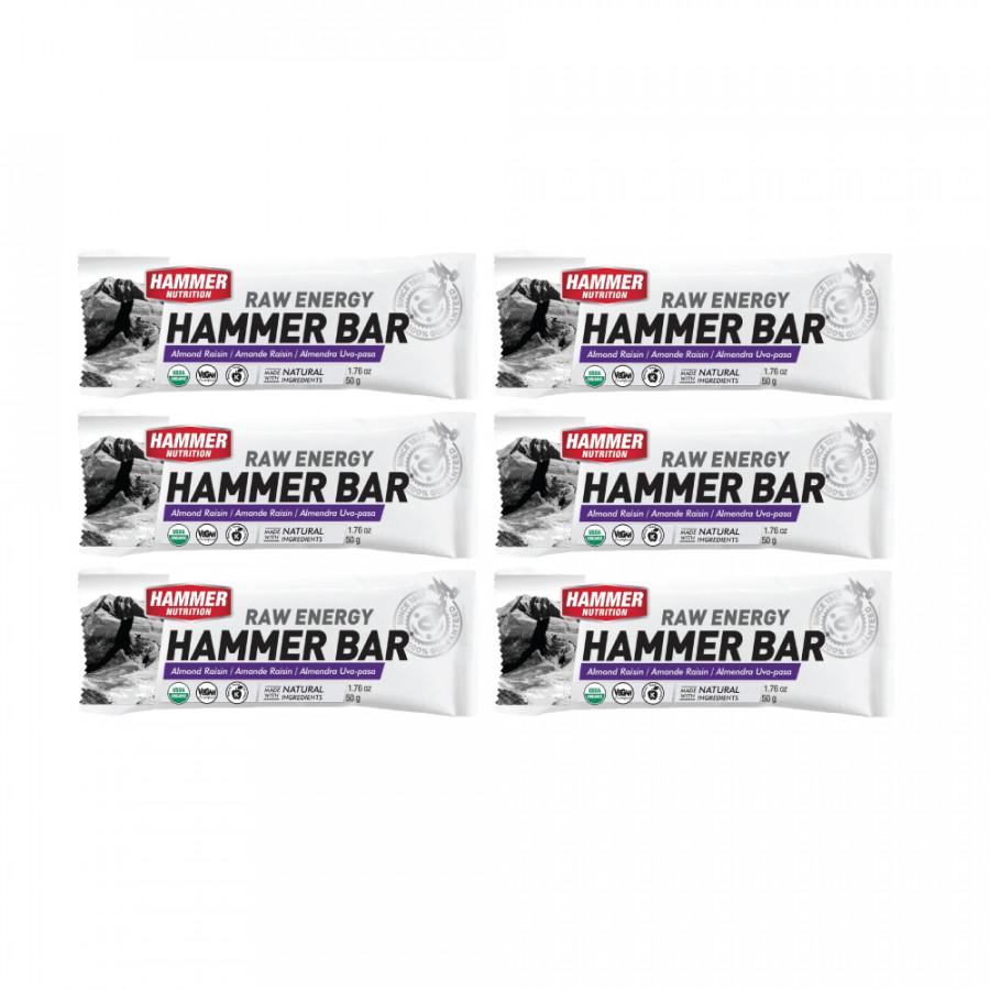Thanh bổ sung năng lượng - Hammer Nutrition Energy Raw - Hạnh nhân- nho - 6 thanh