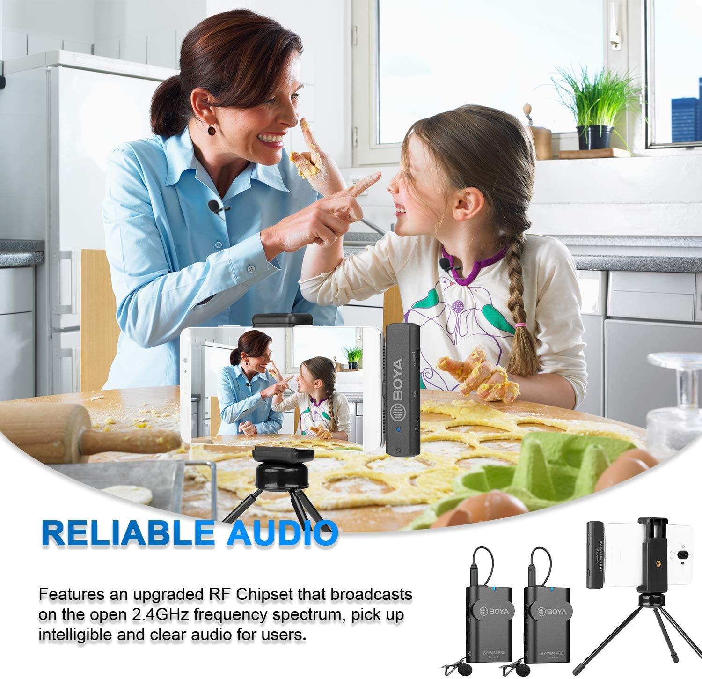 Micro Gài Áo Không Dây Sóng 2.4g, Cổng Type-C Cho Smartphone Boya BY-WM4 Pro-K6 - Hàng chính hãng