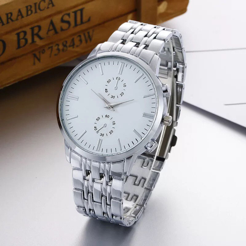 Đồng hồ thời trang nam Shd1, mặt tròn dây kim loại, 2 kim ảo thiết kế sang trọng lịch lãm
