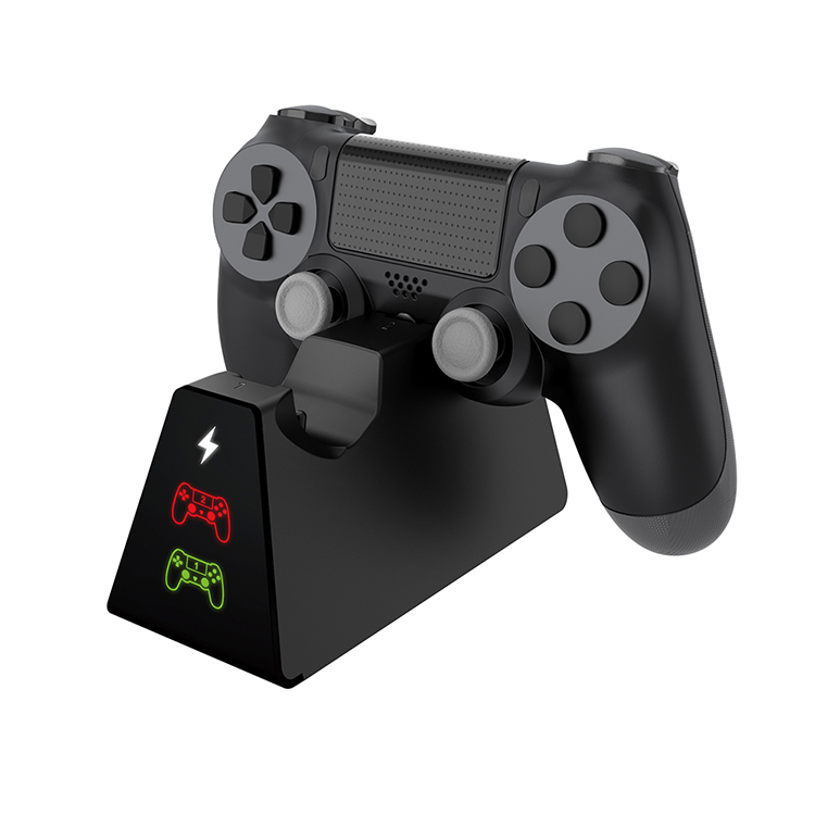 Đế sạc đôi Dobe TP4 cho 2 tay cầm PS4 Slim/ Pro - có đèn LED báo hiệu sạc khi đầy pin (Hàng nhập khẩu)
