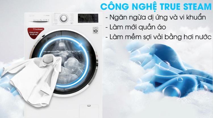 Công nghệ True Steam - Máy giặt LG Inverter 9 kg FC1409S2W