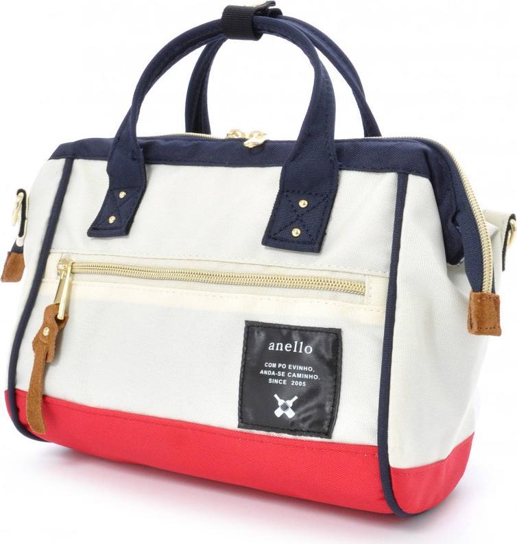 Túi đeo chéo ANELLO đeo 2 kiểu cỡ nhỏ AT-H0851 - Màu Trắng phối Đỏ, Xanh