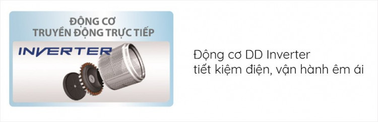 Máy giặt AQUA AQD-D1000C N2, 10.0kg trang bị Động cơ DD Inverter tiết kiệm điện